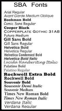 SoldByAngels Standard Fonts